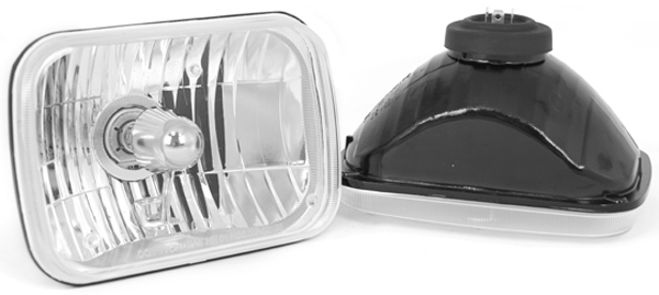 Rugged Ridge 200MM Rectangular Crystal H2 Conversion Headlights (Pair)