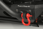 "Rugged Ridge 3/4"" Red Steel D-Ring Shackles (Pair)"