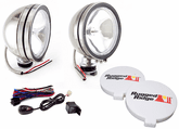 "Rugged Ridge 6"" Round 100 Watt Stainless Steel Fog Lamps Kit (Pair)"