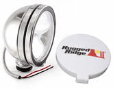 "Rugged Ridge Single 6"" Round 100 Watt Stainless Steel Fog Lamp"