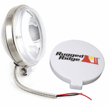 "Rugged Ridge Single 6"" Slim Round 100 Watt Fog Lamps"