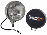 "Rugged Ridge Single Stainless Steel 6"" HID Off-Road Fog Lamp"
