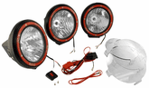 Rugged Ridge Three Black HID Off-Road Fog Lamps Kit