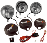 "Rugged Ridge Three Stainless Steel HID 6"" Off-Road Fog Lamps Kit"