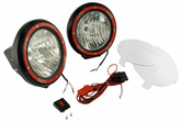 Rugged Ridge Two Black HID Off-Road Fog Lamps Kit