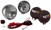 "Rugged Ridge Two Stainless Steel HID 6"" Off-Road Fog Lamps Kit"