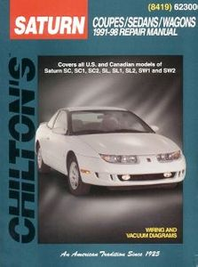 Saturn Coupes/Sedans/Wagons (1991-02) Chilton Manual