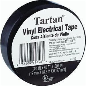 "Tartan™ Vinyl Electrical Tape (1/4"" x 60 ft.)"