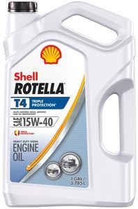 Shell Rotella T4 15W40 Triple Protection Motor Oil (Gallon)