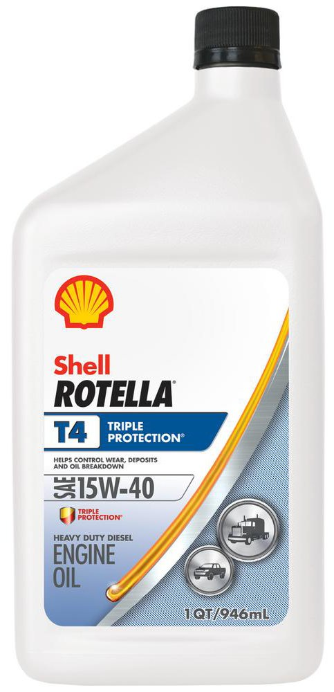 Image of Shell Rotella T4 15W40 Triple Protection Engine Oil (Quart Size)