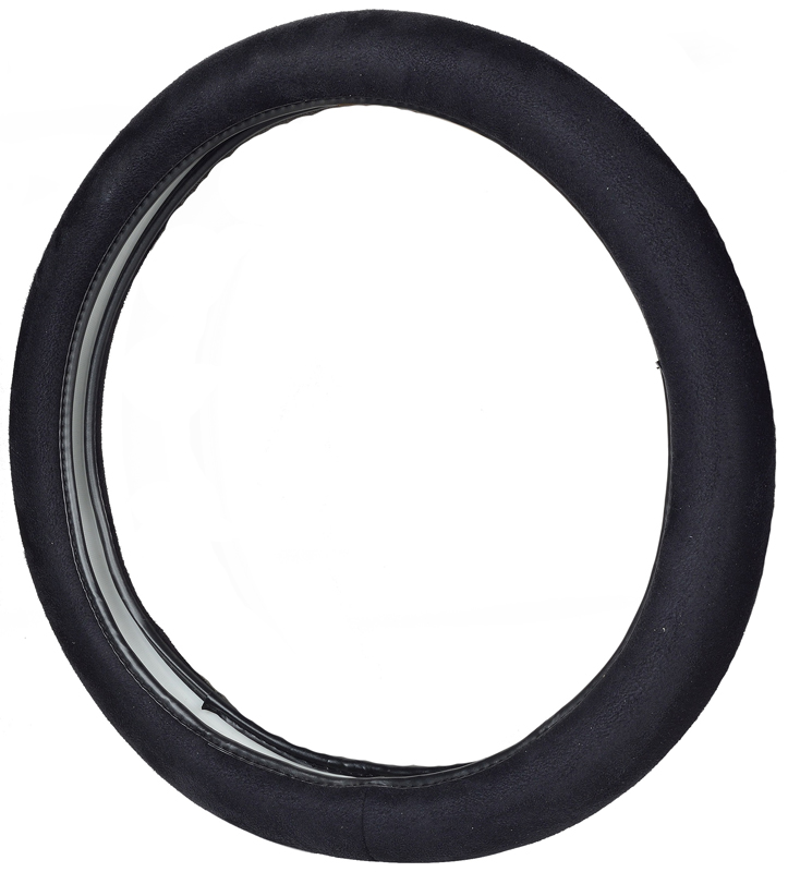 Image of Soft Grip Truck Size Black Steering Wheel Cover