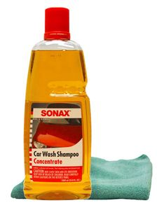 Sonax Car Wash Shampoo Concentrate (33.8 oz) & Microfiber Cloth Kit