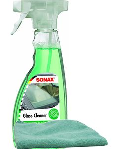 Sonax Clear Glass Cleaner (16.9 oz), Microfiber Cloth Kit