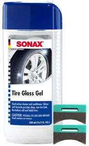 Sonax Revitalizing Tire Gloss Gel (16.9 oz) & Applicator Pads Kit