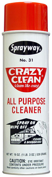 Image of Sprayway Crazy Clean All Purpose Aerosol Cleaner (19 oz.)