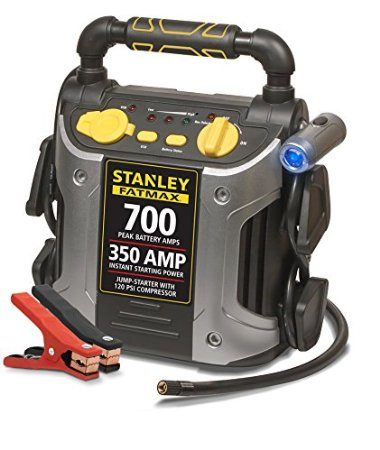 Image of Stanley 350 Amp Battery Jump Starter with Compressor