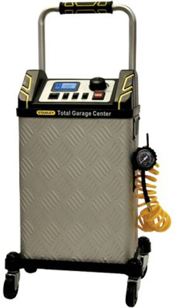 Image of Stanley Total Garage Center 40 Amp Battery Charger & Air Compressor