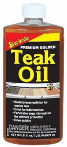 Starbrite Premium Golden Teak Oil (16 oz.)