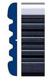 """Style Guard Chevy Truck Black & Chrome Side Molding (2½"""" x 24ft)"""