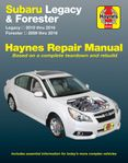 Subaru Forester & Legacy Haynes Repair Manual (2009-2016)