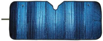 Sunblock Blue 3 Layer Accordian Sunshade
