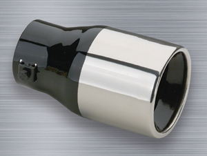 "Image of ""Superior Stainless Steel Round Bolt-On Exhaust Tip (1"""" to 2"""" x 6"""")"""