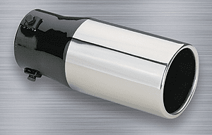 "Superior Stainless Steel Round Bolt-On Exhaust Tip (1½"" to 2½"" x 8"")"