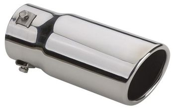 "Superior Stainless Steel Slant Cut Bolt-On Exhaust Tip (3"" x 7"")"