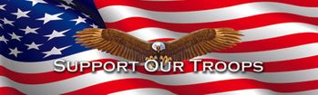 Support Our Troops Rear Window Decal