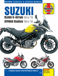 Suzuki DL650, DL650XT, SFV650 Haynes Repair Manual (2004-2019)