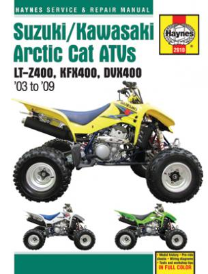 Suzuki Kawasaki & Artic Cat ATVs Haynes Repair Manual (2003-2009)