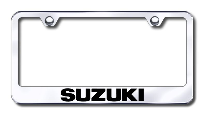 U.S.M.C Mirrored Chrome Stainless Steel License Plate Frame