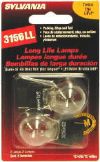 Sylvania 3156LL Long Life Mini Bulbs