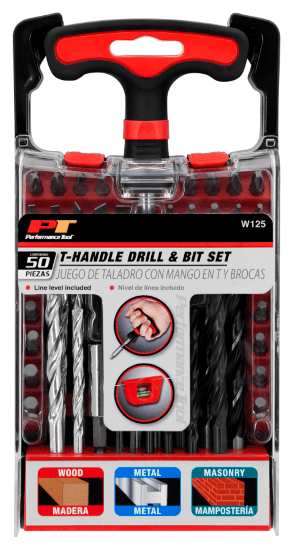 Image of Performance Tool T-Handle Drill and Bit Set