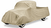 Tan Flannel Custom Car Covers