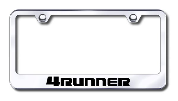 Toyota 4Runner Laser Etched Stainless Steel License Plate Frame ...