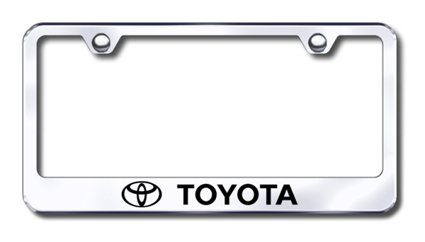 Toyota Laser Etched Stainless Steel License Plate Frame