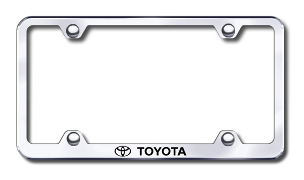Toyota Laser Etched Stainless Steel Wide License Plate Frame
