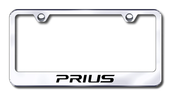 Toyota Prius Laser Etched Stainless Steel License Plate Frame