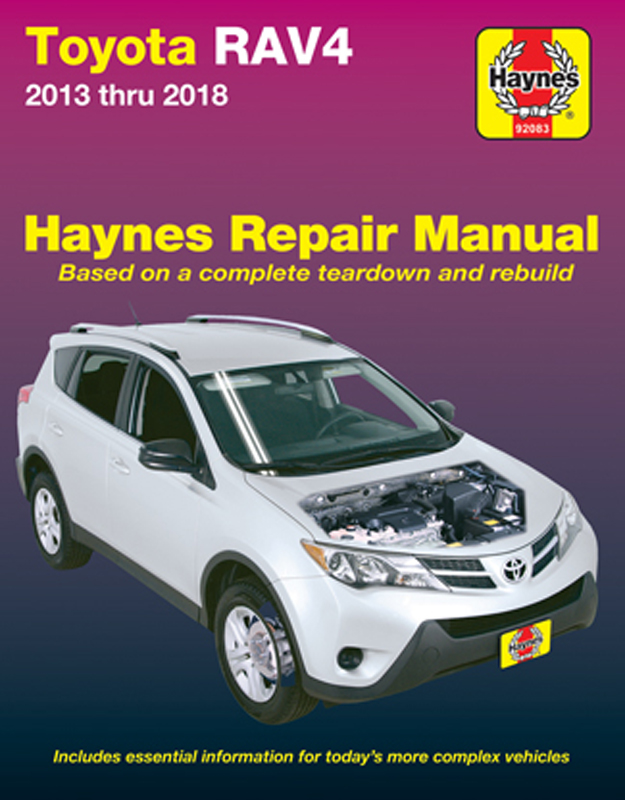 Toyota RAV4 Haynes Repair Manual (2013-2018)
