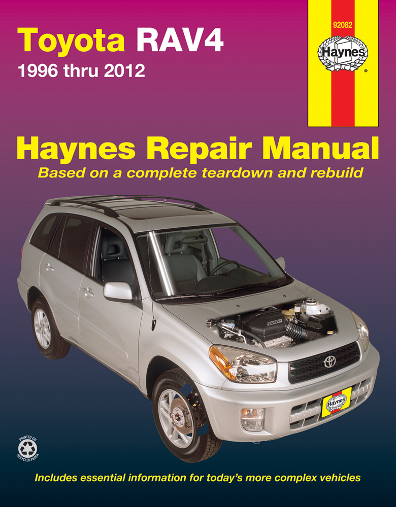 Complete coverage for your Toyota RAV4 1996 thru 2012 Does not cover information specific to RAV4 EV...