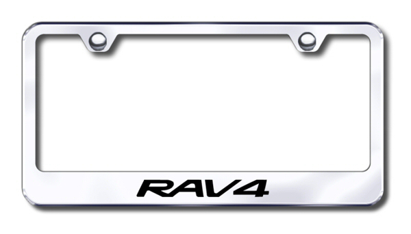 Toyota RAV4 Laser Etched Stainless Steel License Plate Frame