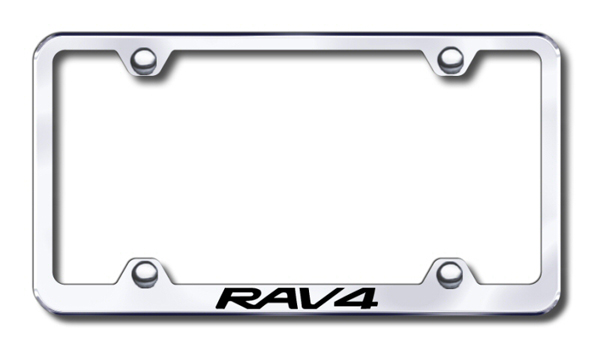 Toyota RAV4 Laser Etched Stainless Steel Wide License Plate Frame