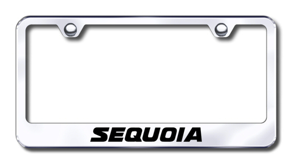 Toyota Sequoia Laser Etched Stainless Steel License Plate Frame