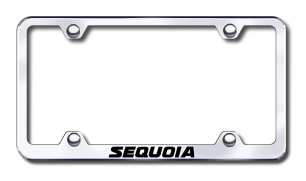 Toyota Sequoia Laser Etched Stainless Steel Wide License Plate Frame