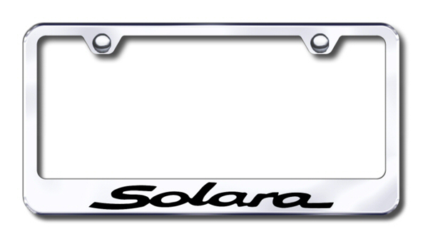 Toyota Solara Laser Etched Stainless Steel License Plate Frame