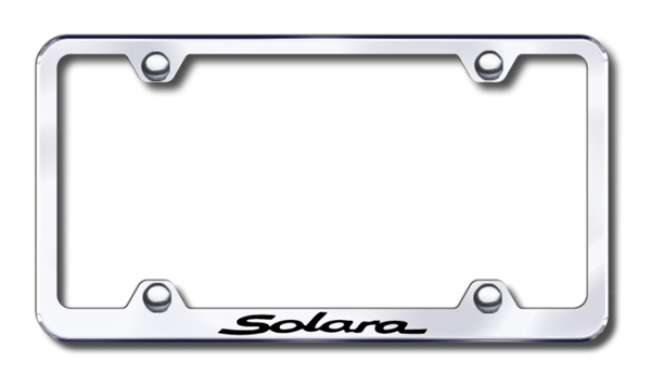 Toyota Solara Laser Etched Stainless Steel Wide License Plate Frame