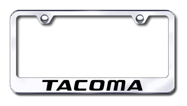 Toyota Tacoma Laser Etched Stainless Steel License Plate Frame