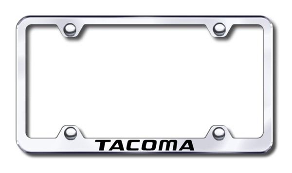 Toyota Tacoma Laser Etched Stainless Steel Wide License Plate Frame