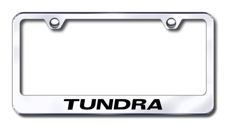 Toyota Tundra Laser Etched Stainless Steel License Plate Frame